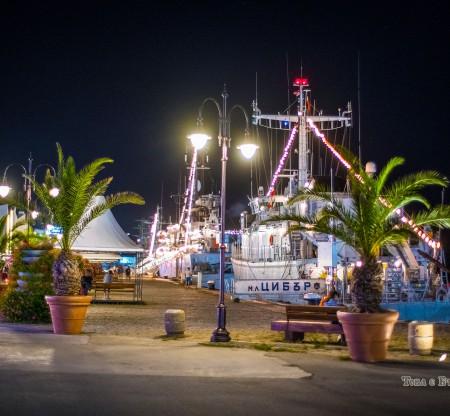 Пристанище Варна нощем -  Това е България