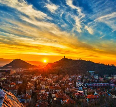 Залез над пловдивските хълмове -  Това е България